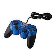 Dilong dual-shock vibración Gamepad USB controlador de juegos de PC Juegos-Blue