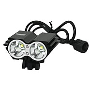 Bike Light , Headlamps / Bike Lights - 3 Mode 1200 Lumens Rechargeable / Anglehead 18650 x 4 Battery / ACCamping/Hiking/Caving /