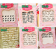 6PCS Mixs Black White WordArt Nail Art Stickers NO.14-NO.23