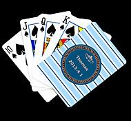 Presente personalizado azul Fringe Padrão do cartão de jogo para Poker