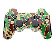 Camouflage Wireless Controller for PS3 (Yellow + Green)