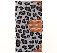 Leopard Print PU Leather Full Body Case for iPhone 4/4S (Assorted Colors)