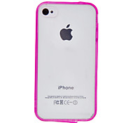 Anti-scratch Protective Translucent PC Hard Case with TPU Frame for iPhone 4/4S (Assorted Colors)