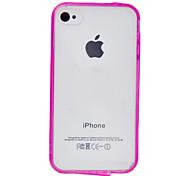 Anti-rayures de protection translucide PC Hard Case avec cadre en TPU pour iPhone 4/4S (couleurs assorties)