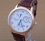 Especial Genuine Leather Calendário Quartz Watch Watch, Tendências de Moda Marcas populares em países europeus e norte-americanos