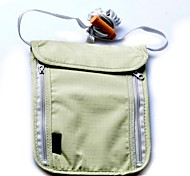 4882 Travel Camping Passport Neck Stash Security Pouch Wallet-Light Gray