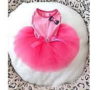 Dog Dress Pink Summer Bowknot Wedding, Dog Clothes / Dog Clothing-Doglemi
