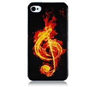 Musical Note Pattern Silicone Soft Case for iPhone5/5S