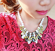 New Arrival Fashion Beads Crystal Chunky Necklace Statement Jewelry