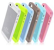 Candy Color TPU Transparent  Soft  Back Case for iPhone 5/5S (Assorted Colors)