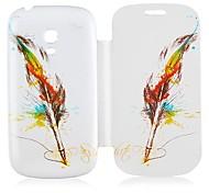 Feder-Muster-Leder-Ganzkörper-Case für Samsung Galaxy S3 I8190 Mini