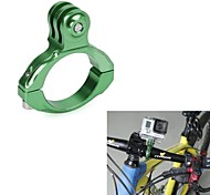 G-203-Green Universal Aluminum Bicycle Mount Clip for GoPro HD Hero 2 / 3 / 3+