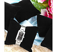 Fashion Velvet Jewelry Display Pillows for Wristwatch(Black)(5pcs)
