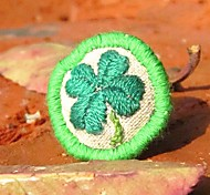 New Style Classic Clover Hand Embroidery Women's Ring(1 Pc)