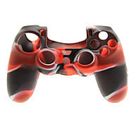 2 PCS Mushroom Caps and 2 PCS Black Thumb Stick Grips and 1 PC Silicone Case(Red+Black)
