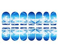12PCS imagination de Nail Art Snow Mountain lumineux autocollants