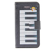 Kinston Dream Of The Piano Pattern PU Leather Full Body Case with Stand for iPhone 4/4S