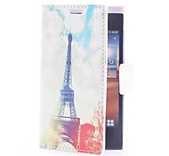 Eiffel Towel Leather Case with Card Slot and Stand for LG L5/E610/E612