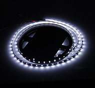 24W 1800LM 6500K 300-3528 SMD LED White Light Strip Lamp - Bianco + Nero (DC 12V / 5m)