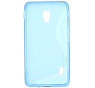 Transparent couverture de cas de TPU Retour S Motif pour LG D500