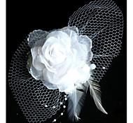 Moda Sposa filato della rete del fiore del copricapo della forcella