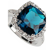 Мода 925 Посеребренная кольцо Медь Циркон