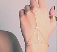 shixin® europäischen Einzel Quasten 37cm Frauen goldene Metallkette& Gliederarmband (golden, silbern) (1 Stück)