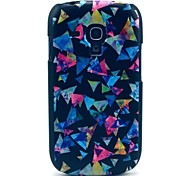 Colourful Triangle Paper Pattern Hard Case for Samsung Galaxy S3 Mini I8190