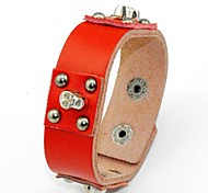 Fashion And Personality Skull Rivet Leather Bracelet