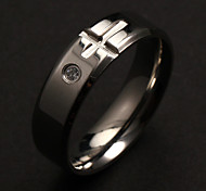 Fashion Individual Men's Silver Stainless Steel Band Rings(1 Pc) Christmas Gifts