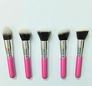 5 Set di pennelli Pennello di nylon / Capelli sintetici Viso / Labbro / Occhi