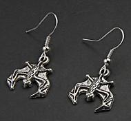 Punk Bat Silver Alloy Earrings(1 Pair)