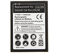 Teléfono celular de la batería 2800mAh Negro para Samsung Galaxy S4 Mini/i9190 (2pcs)