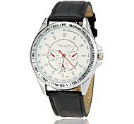 Men's Racing Dial Silver Case Leather Band Quartz Wrist Watch (Assorted Colors) Cool Watch Unique Watch