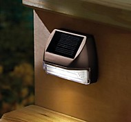 Plastique 2-LED Blanc Mini Rectangle pont solaire Solar Light Lamp Escaliers Mur de lumière