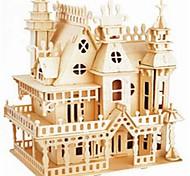 10 Plate Вилла Деревянные блоков собраны Мечта игрушки