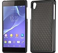 Dual Color 3D Cube Pattern TPU Flexible Case for Sony Xperia Z2 L50W D6502 D6503