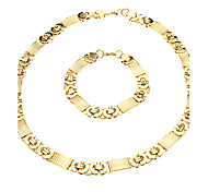 European Thick Golden Titanium Steel Chain Necklace (1 Pc)