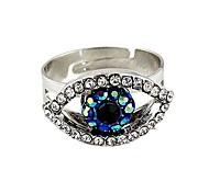 2014 New Design Rhinestone Setting Evil Eye Shape Finger Ring