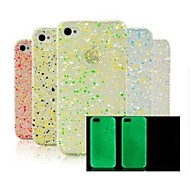 Glow in The Dark Snow Flake Hard Case for iPhone 4/4S(Random Color)