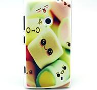 Towel Cake Pattern TPU Soft Case for Nokia Lumia N520