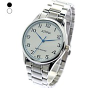 Unisex Round Dial Steel Band Analog Quartz Wrist Watch(Assorted Colors)