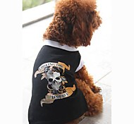 Dog Shirt / T-Shirt Black Dog Clothes Summer Skulls