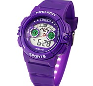 Time100 Children's Colorful LCD Outdoor Digital Dial Sport PU Band Electronic Watch