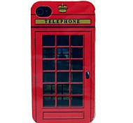 The Simulation Telephone Booth Pattern TPU Soft Case for iPhone 4/4S