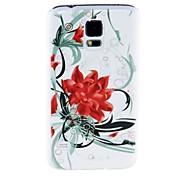 Kinston Flores De Flores Patrón de plástico duro caso para Samsung i9600 S5