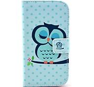 Dormire Owl modello PU Custodia in pelle completo con il basamento e supporto di carta per HTC Desire 500