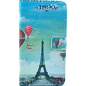 Balloon Eiffel Tower Pattern PU Leather Case with Stand Card Holder for Samsung Galaxy Note 3 N9000