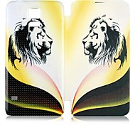 For Samsung Galaxy Case Flip / Pattern Case Full Body Case Animal PU Leather Samsung S5