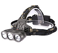 Lights Headlamps LED 190 Lumens 3 Mode Cree XR-E Q5 18650 Multifunction Plastic / ABS